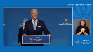 Joe Biden and Kamala Harris Announce Key Foreign Policy and National Security Posts