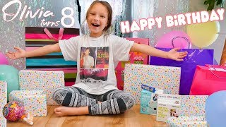 8 YEAR OLD OPENING BIRTHDAY PRESENTS! 🎁 Olivias Birthday Special