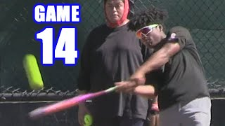 MIC'D UP GABE THINKS HE CAN BEAT ME! | On-Season Softball Series | Game 14