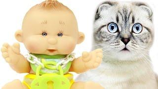 Дочки-Матери Кукла Пупс Антошка и котик Развивающий мультфильм для детей Мультик Игрушки для девочек