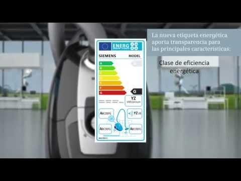 Etiqueta energética aspiradores Siemens