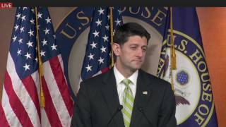 Paul Ryan Press Conference on President Donald Trump Decision to Pull Obamacare Replacement Bill