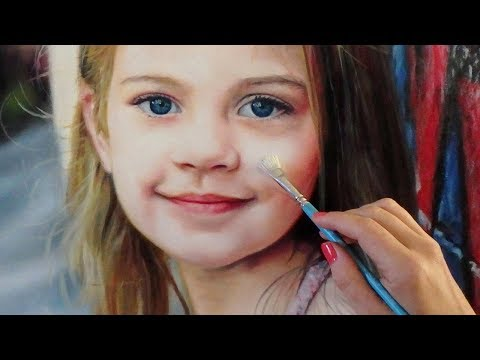 REALISTIC OIL PAINTING OF A LITTLE GIRL / CHILD / KID  by Isabelle Richard