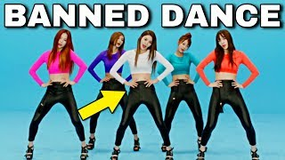 KPOP BΛNNED DANCE: Before VS After