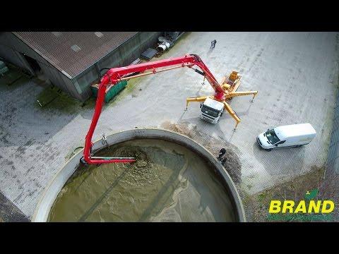 Firma Brand Rühr- und Pumptechnik / Brand B 0153 Hydromixer moniert an Sany Betonpumpe