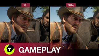Red Dead Redemption 2 - 4k-gameplay op PC vs PS4 Pro