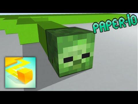 Monster School : PAPER IO 2 CHALLENGE - Minecraft Animation