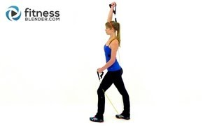 At Home Resistance Band Workout for the Upper Body - Exercise Band Training by Fitness Blender