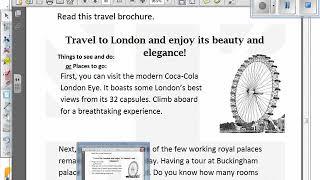 Prim. 5 English 9-4-2020 Writing A Travel Brochure