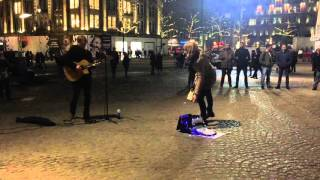Just Tom - Cover Dust in the Wind 2016 Dam square Amsterdam