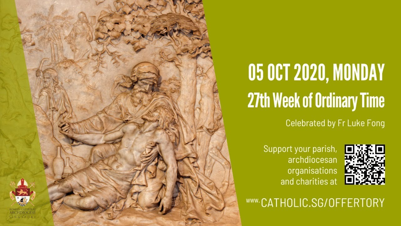 Catholic Mass 5th October 2020 Today Monday Online - 27th Week of Ordinary Time 2020