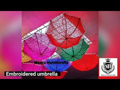Handcrafted Embroidered Umbrella