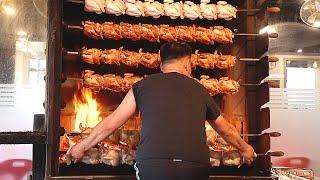 장작구이통닭 Oak Firewood Roast Chicken, Wood Fired Chicken - Korean Food