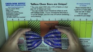 How To Make Tailless Cheer Bows With Rhinestones And Glitter Vinyl