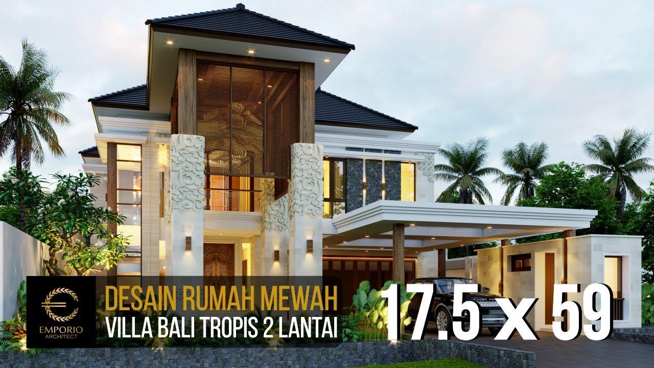 Video 3D Desain Rumah Villa Bali 2 Lantai Bapak Reno - Bandung, Jawa Barat