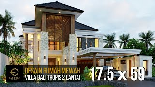 Video Desain Rumah Villa Bali 2 Lantai Bapak Reno di  Bandung, Jawa Barat
