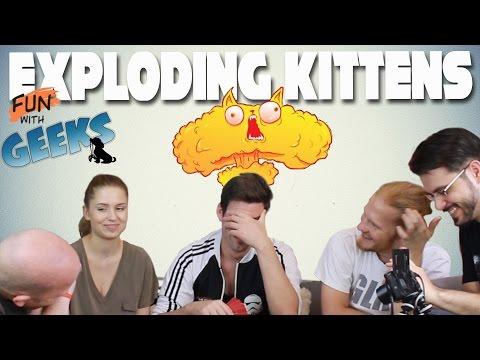 Exploding Kittens | Felrobbannak a cicák! (Julcsi, Sirius, Kaci, Pé) - Fun With Geeks