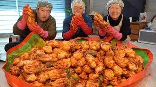 겨울맞이 김장 김치 만드는 전 과정!! (How to make Heungsam Kimchi!!) 요리&먹방!! – Mukbang eating show