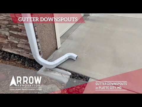 Gutter Downspouts Installed on Home in Platte City, MO