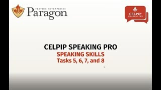 CELPIP Speaking Pro - Lesson 2  (Recording March 2018)