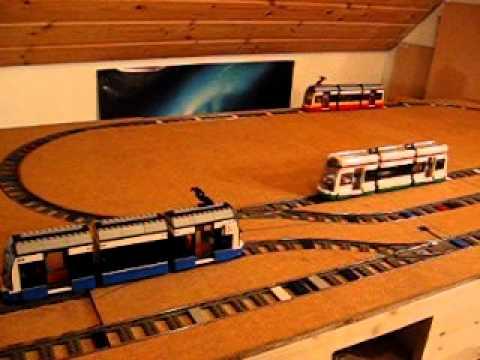 Bau einer Lego Straßenbahn Ausstellungsanlage - Film 1