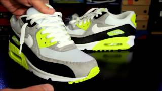 Nike Air Max 90 Black  White  Medium Grey - Volt + How To Lace Your Sneakers
