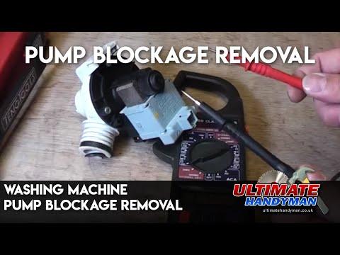 Washing machine pump blockage removal   | ultimate handyman