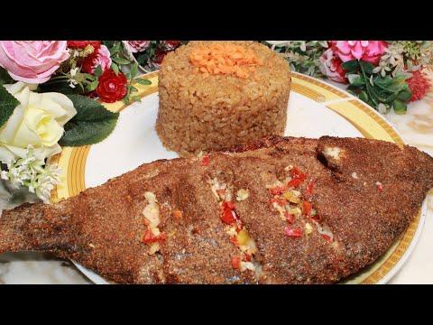 سمك مشوى فى الفرن بأروع تتبيلة مع أرز السمك بأسهل طريقة _ { بنت الشيف }