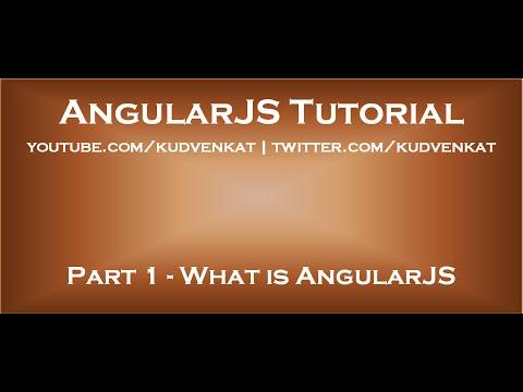 AngularJS tutorial - What is AngularJS - YouTube