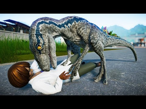 Blue Vs Baryonyx Vs Suchomimus Breakout and Fight - Jurassic World Evolution (Blue Fight Scene)