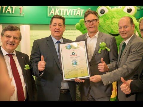 GREEN BRANDS Germany Předání certifikátu značce Frosch