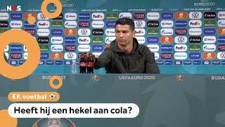 Ronaldo haalt cola van tafel: 'Drink water'