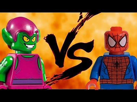 Lego Spiderman vs Green Goblin (видео)
