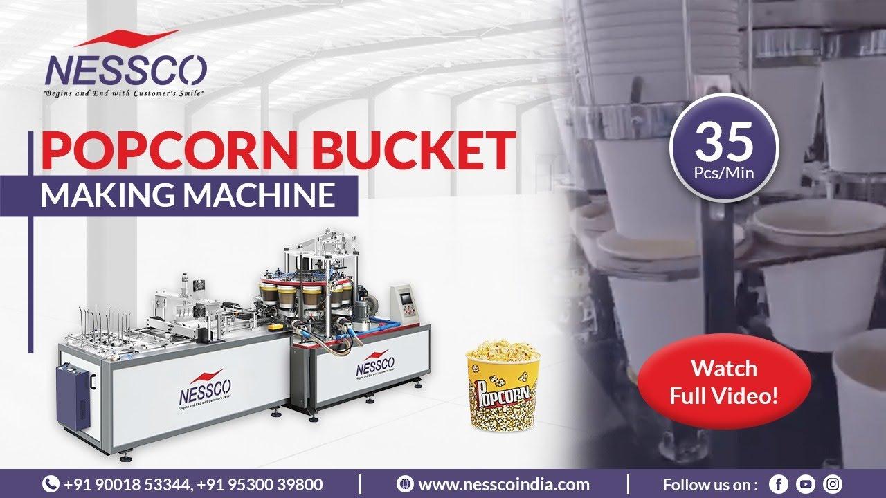Popcorn Bucket Making Machine   Fully Automatic Machine   Nessco