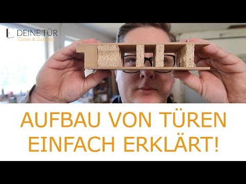 How to:  Aufbau von Türen / Massivholz Tür erklärt / Türen Querschnitt