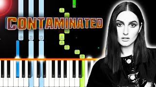 BANKS   Contaminated (Piano Tutorial) By MUSICHELP