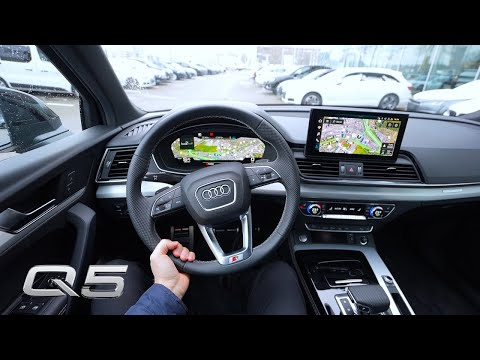 New Audi Q5 S Line 2021 Test Drive Review POV