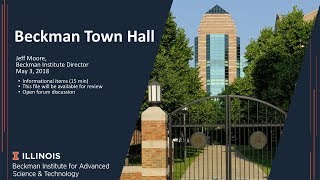 Thumbnail of Beckman Institute Town Hall - May 3, 2018 video