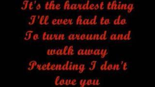 The Hardest Thing - Lyrics