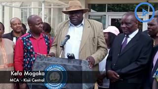 Kisii Central MCA Kefa Mogaka warns against plans to disrupt Friday's