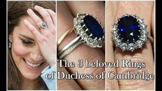 凱特手上常年佩戴三枚戒指?除了戴妃藍寶石還有兩枚深藏其下 宮廷秘史 