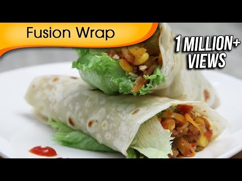 Fusion Wrap – Healthy Veg Wrap – Quick Easy To Make Tiffin Snacks / Brunch Recipe By Ruchi Bharani