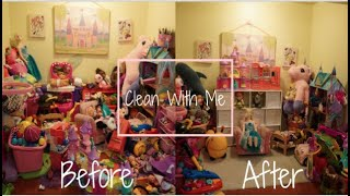 EXTREME CLEANING MOTIVATION! CLEAN, DECLUTTER, AND ORGANIZE PLAYROOM WITH ME.