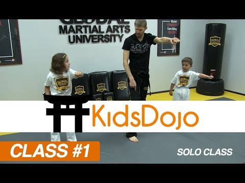 Martial Arts for Kids Beginner Class 1 - Footwork & Punches (Solo ...