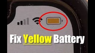 Fix Yellow Battery Icon on iPhone | iOS 13