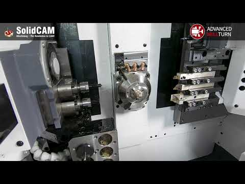 SolidCAM Advanced Mill-Turn on a Citizen D25 CNC with Iscar