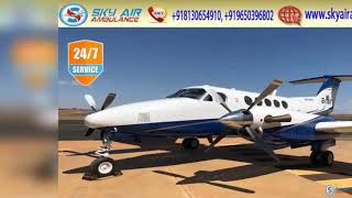 Get Latest MICU Based Air Ambulance from Bangalore or Allahabad by Sky