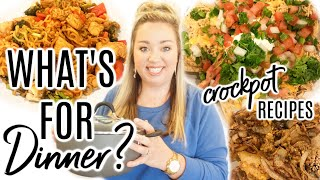 WHAT'S FOR DINNER | CROCKPOT RECIPES | EASY WEEKNIGHT MEALS | JESSICA O'DONOHUE