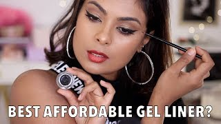 SMUDGE-FREE For 10 HOURS??? New Nykaa Black Magic Gel Eyeliner Review Wear Test!