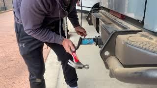 Removing Hitch Locking Pin